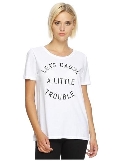 Only Only Koyu Beyaz T-Shirt Beyaz
